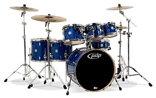 - PDP PDCM2217BL Concept Maple 7-Piece Drum Set Blue Sparkle Fade w/HW and Throne