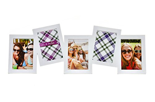 BestBuy Frames 5 Opening Collage and Multiple Frames - Fits Standard 4-Inch-by-6-Inch Photos, White