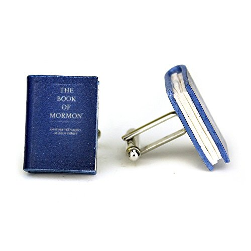 The BOOK of MORMON Clay Mini Book Cufflinks by Book (Easy Best Friend Costumes)