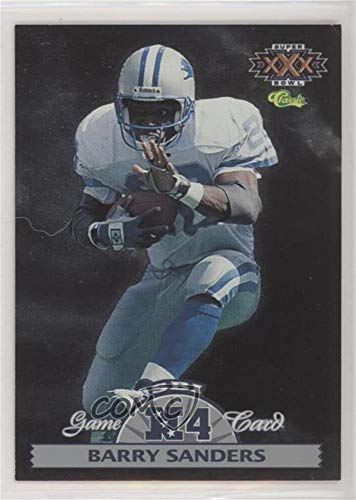 Super Nfl Experience Bowl (Barry Sanders (Football Card) 1996 Classic NFL Experience - Super Bowl Interactive Game Cards #NFC4)