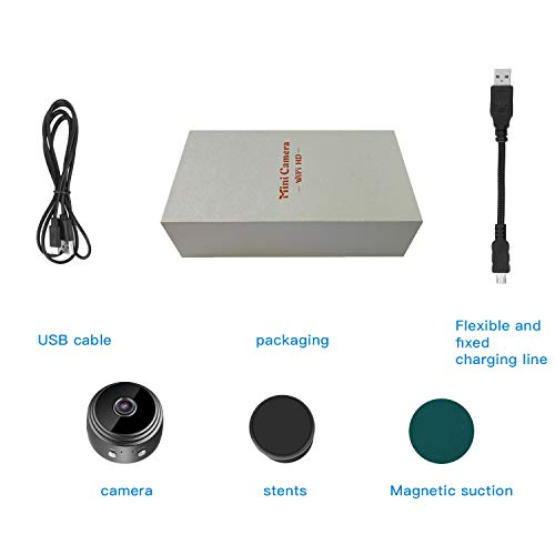 Kkeep Spy Camera 1080P Video Recorder Wireless IP Mini Cameras hidden camera Ultra small Camera WiFi Remote View home security cam Mini Security Monitoring 150°Angle Nanny Cam Night Vision Motion Dete