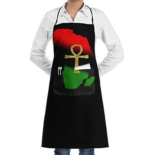 Africa And ANKH Cooking Kitchen Aprons With Pockets Bib Apron For Cooking, Baking, Crafting, Gardening, BBQ by AAAAACHEF
