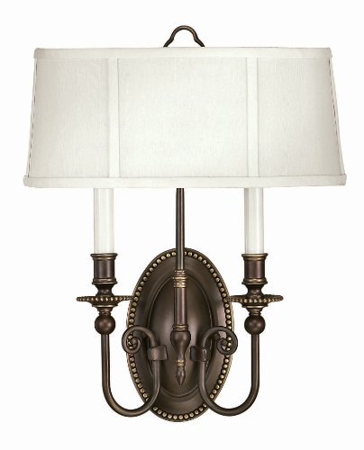 Hinkley 3610OB Traditional Two Light Wall Sconce from Cambridge collection in Bronze/Darkfinish,