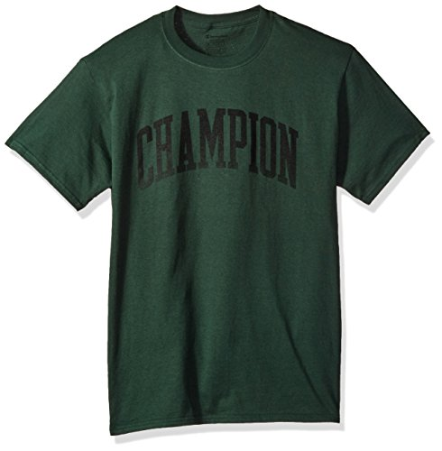 Champion Men's Classic Jersey Graphic T-Shirt, Dark Green/Tall Arch, 2X (Arch Jersey)