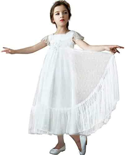 674969ce57 Magicdress Lace Flower Girl Dress Boho Long Sleeve for Wedding Party Dresses