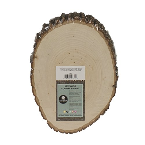 Walnut Hollow Basswood Country Round, Medium for Woodburning, Home Décor and Rustic Weddings ()