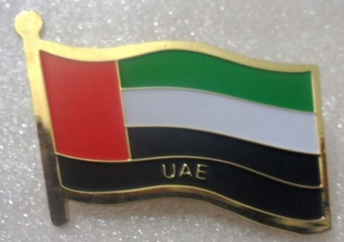 Metal Brass Alloy Lapel Pin Country National Flag Logo Soft Enamel Emblem Badge Button Safety butterfly clutch (United Arab Emirates / UAE)