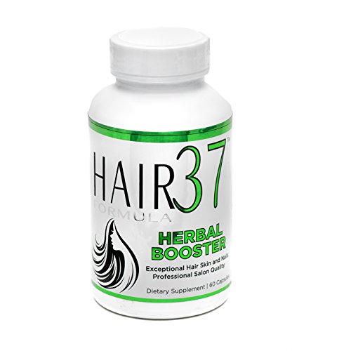 Hair 37 Vitamins Formula (Hair Formula 37 Herbal Booster with Biotin - 60 Capsules 30 Day Supply - Herbs for Hair plus added Vitamins with Biotin for Fast Growth Best Herbs for Hair)