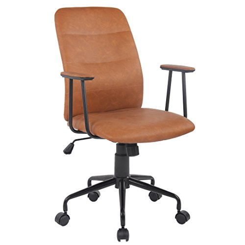 Porthos Home GKC021A BRN Blanche Office Chair, Brown by Porthos Home