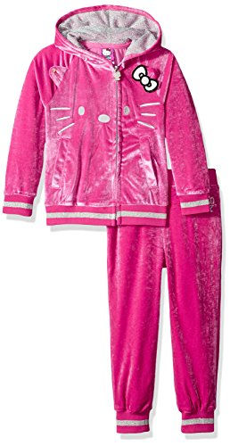 Hello Kitty Toddler Girls' 2 Piece Hooded Fleece Active Set, Pink 87643, 3T