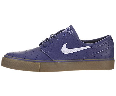 Nike Steph Janoski SB - Perforated Leather (8.5, Blue/White-Gum) by NIKE