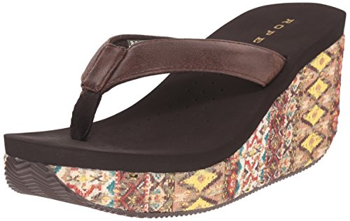 Roper Women Gina Wedge Sandal Brown