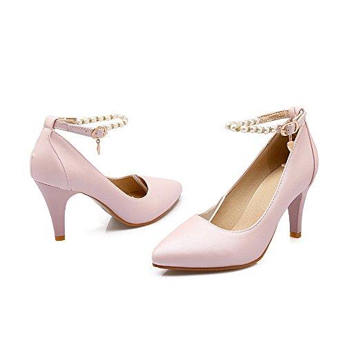 Unie Chaussures Couleur Stylet Femme Boucle L Pointu Agoolar PwqvpXYw