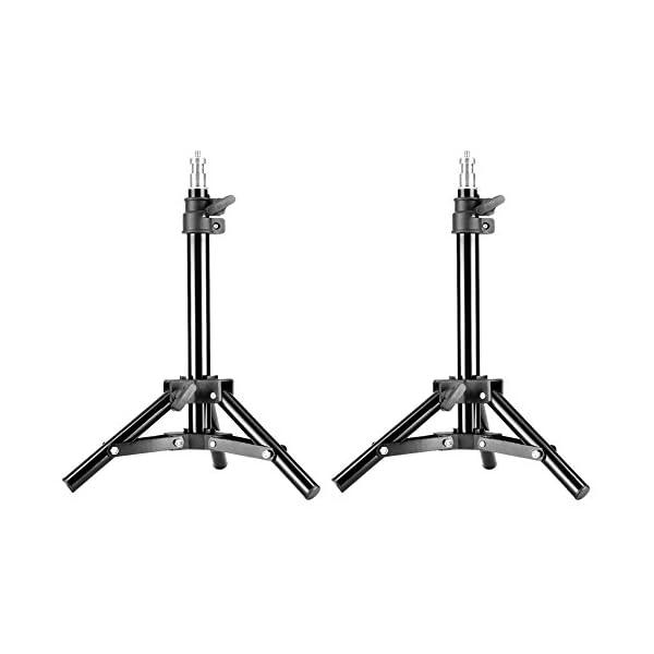 RetinaPix Neewer Mini Set of Two Aluminum Photography Back Light Stands