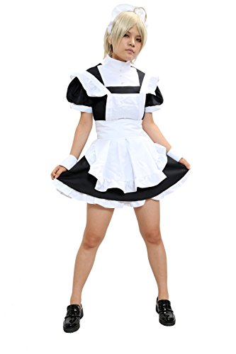 xcoser Halloween Womens Combat Butler Maid Costume Black and White L ()