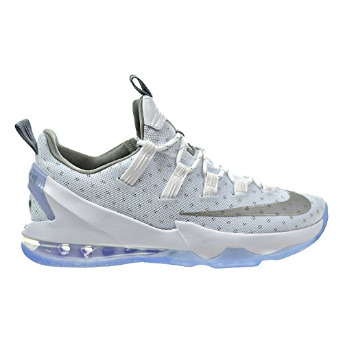 Nike Lebron XIII Low Men's Shoes White/Metallic Silver/Light Iron Ore