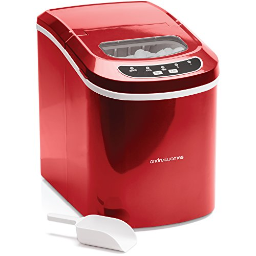 Andrew James Ice Maker Machine | Compact Portable Countertop Ice Cube Maker...
