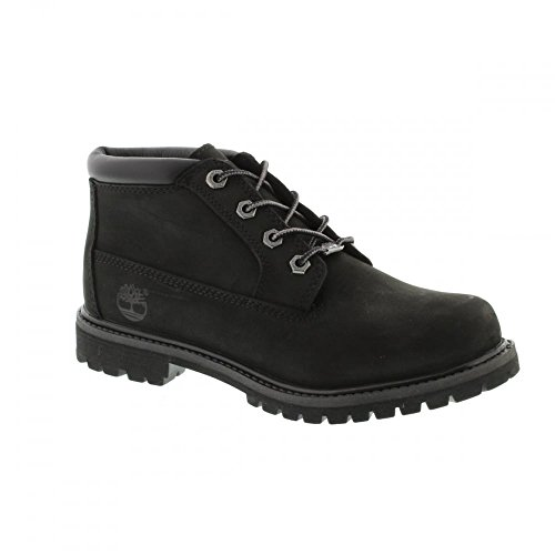 Timberland Women's Nellie Double WP Ankle Boot,Black,7 W (Black Outdoor Boots)