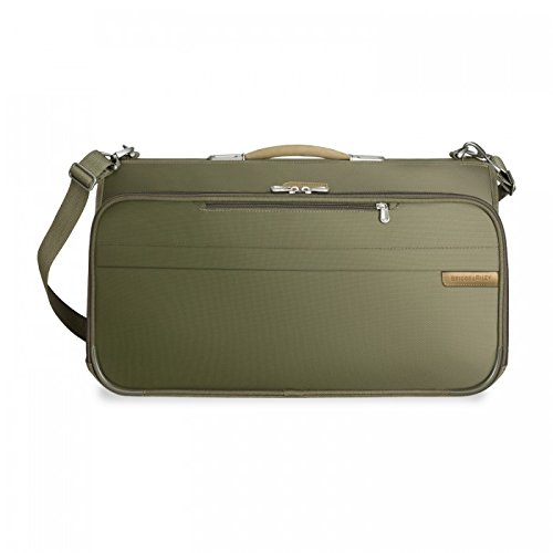 Briggs & Riley Baseline Compact Tri-Fold Garment Bag,Olive,14x22x8.5 by Briggs & Riley