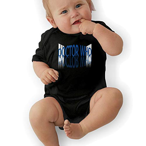 LuckyTagy Doctor Who Unisex Particular Boys & Girls Romper Baby GirlOutfits 45 Black