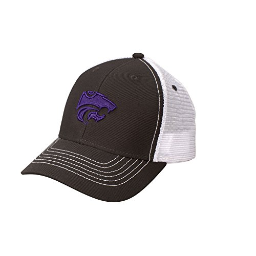 NCAA Kansas State Wildcats Youth Sideline Mesh Cap, Adjustable Size, Dark - State Kansas Wildcats Mesh