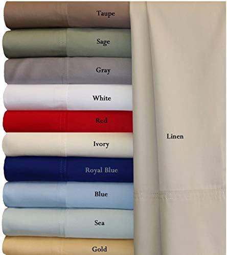 Devi Bedding-Best Price Parure de lit en coton égyptien doux 800 fils avec poche jusqu'à 53,3 cm Moderne Full XL Rouge