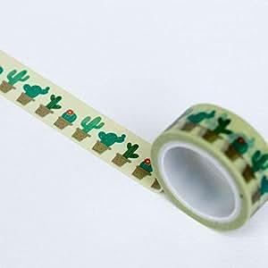 Cinta adhesiva de 5 m para manualidades de Luck and Luck Cactus