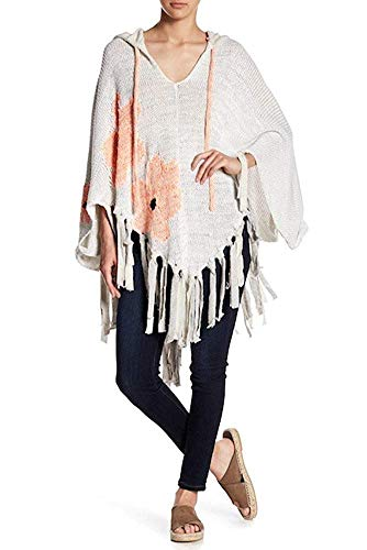 - Free People Women's Dream of Daisies Poncho (White, One Size)