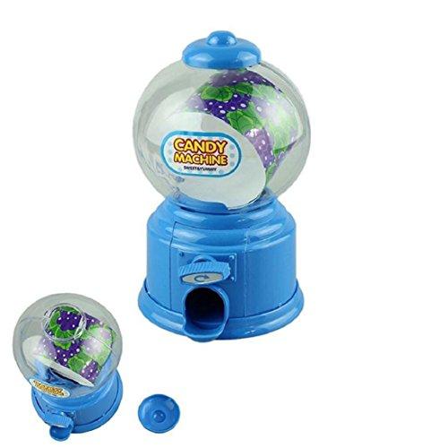 Cute Mini Gumball Machine,Candy Dispenser Kids Toy ,GBell (Blue)