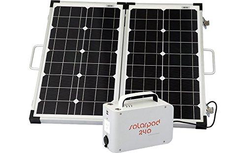 SolPro Solarpod 240 60W 12V Folding Rigid Solar Panel, White Grey