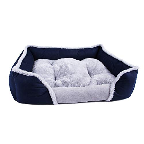 XDgrace Orthopedic Dog Bed Bolster XL, Modern Dog Lounge Sofa with Removable Cover, Donut Pet Beds for Medium Large Dogs (XL, Navy - Bed Dog Berber