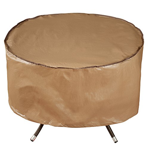 Abba Patio Outdoor Patio Round Fire Pit Cover/Table Cover, 40-inch, Water Resistant, Brown by Abba Patio