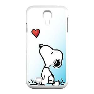 SNOOPY 02 funda Samsung Galaxy S4 9500 funda teléfono celular de cubierta blanca, funda de plástico caja del teléfono celular