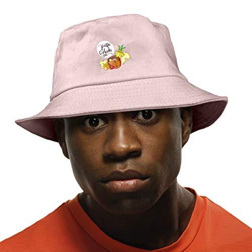(Tropical Pina Colada Drink with Splash Unisex Fisherman Cap Fashion Funny Bucket Hat Pink)