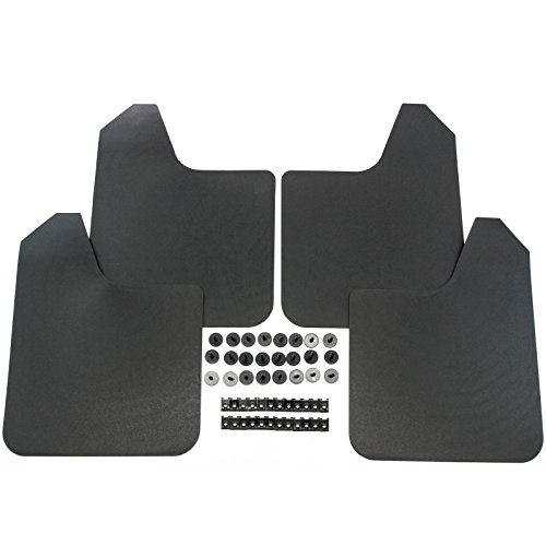 Red Hound Auto Heavy Duty Universal Mud Flaps Guards for Most Vehicles 4 Pc Set Front and -