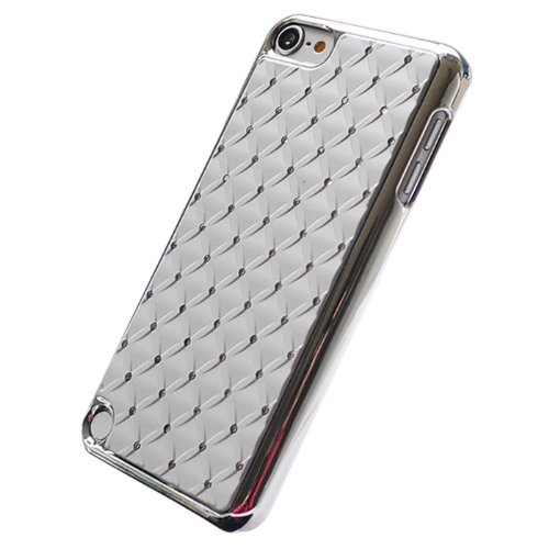 Silver Deluxe Bling Diamond Net Chrome Plated Hard Cover Case For Apple iPod Touch 5 5G (Diamond For 5 Chrome Ipod Case)