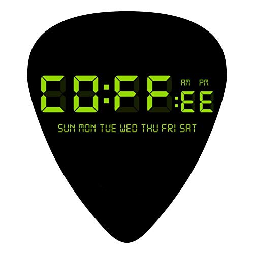 Coffee Time 351 Shape Medium Classic Celluloid Picks, 12-Pack, For Electric Guitar, Acoustic Guitar, Mandolin, And Bass