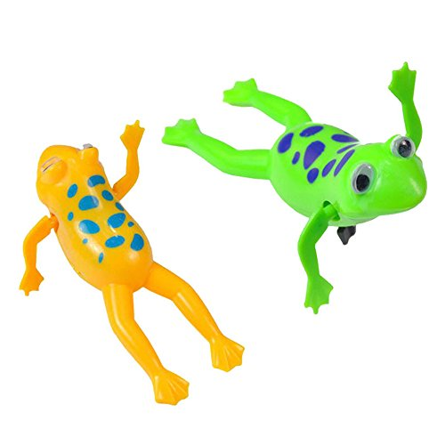 Wind-up Frog Swimming Pool Bath Time Animal Clockwork Floating Kid Baby Toy WC