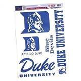WinCraft NCAA Duke University Multi Use Decal, 11 x 17