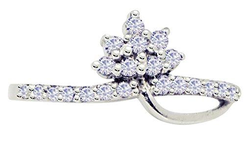 Banithani 925 argent sterling, bague doigt de pierre cz charme de la mode indienne femmes bijoux