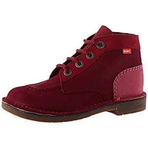 KICKERS COL, Bottine Femme, Rose Tricolore, 41 EU