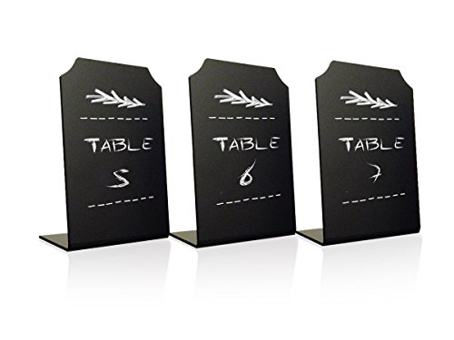 Acrylic Chalkboard Signs Memo Message - Mini Blackboard with Stand for Cafe & Restaurant Parties Place Cards Buffet Menus and Events Weddings - 4 x 6 Boards - By Advanced Group Corp … (3 Pack)
