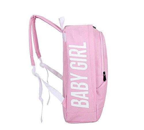 Aalardom Women Fashion Nylon Daypack Backpacks Hiking Backpacks, Tsmbh181258, Pink Verdeclaro