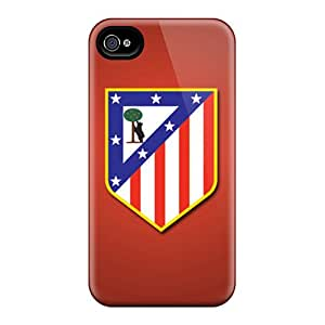 Durable Hard Phone Cover For Iphone 4/4s (MNr6933gvAc) Unique Design Vivid Atletico De Madrid Image
