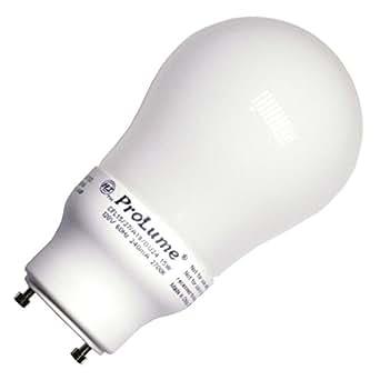 Halco 46540 - CFL15/27/A19/GU24 Pear A Line Pin Base Compact Fluorescent Light Bulb