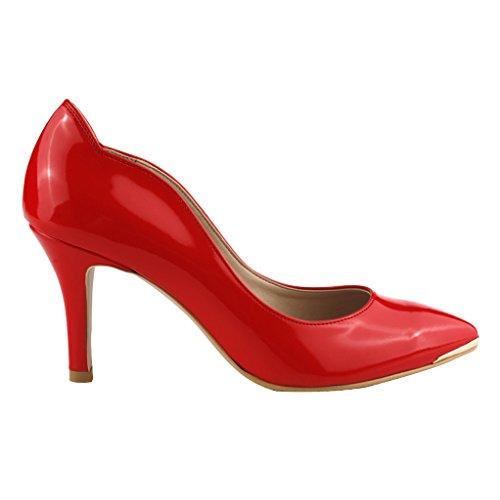 Che Evoca Scarpe Da Donna In Pelle Con Fodera Rosso