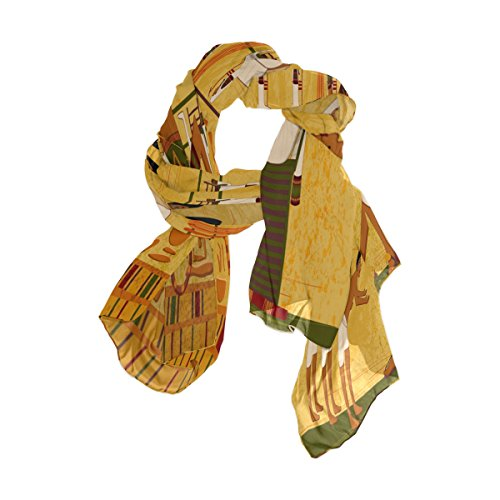 Scarf Silk Antique Shawl Wrap - Use4 Antique Egyptian Women Man Chiffon Silk Long Scarf Shawl Wrap