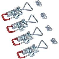 Set van 4 spanbevestigingsklemmen excentrische sluiting verstelbaar 70-81 mm incl. tegenhouder
