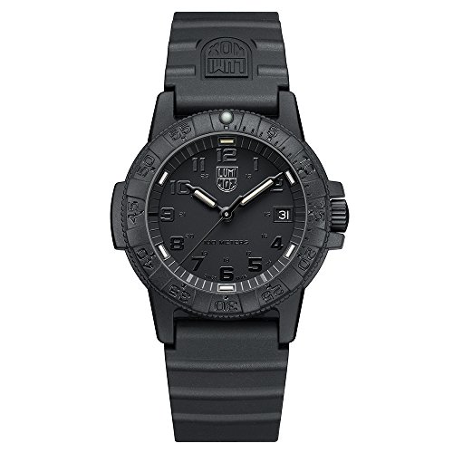 Luminox Leatherback Sea Turtle 0300 series Watch with carbon compound Case Black|Black Dial and PU Black Strap