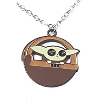 Kiaka Baby Yoda Grogu Star Wars Mandalorian Necklace for Kids and Teens
